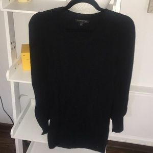 Long black, midweight Banana Republic sweater